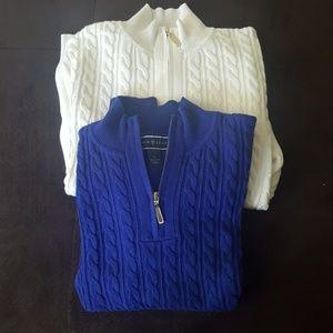 Karen Scott L Cotton Sweater Zipper Detail